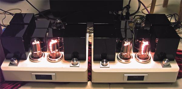 组装的电路架构是12ax7+6h30pi+300b+推动变压器+845